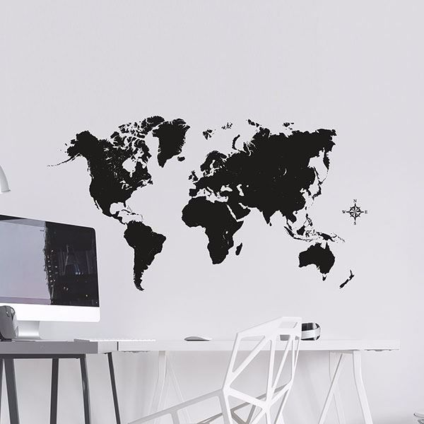 Picture of Black Map Wall Decals