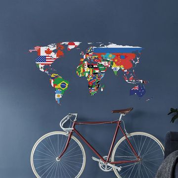 Picture of Flags Map Wall Decals