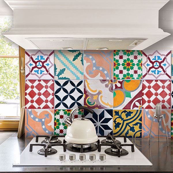 Picture of Colorful Tiles Kitchen Panels