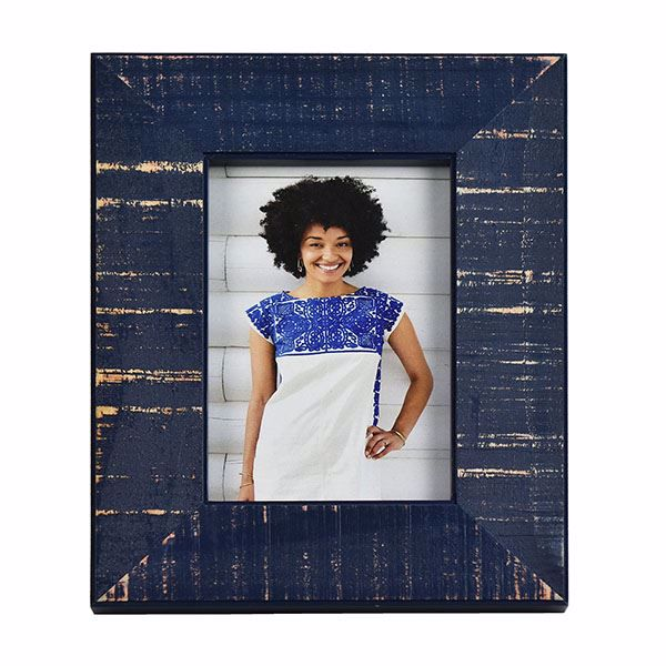 Picture of Dennis Dark Blue 4x6 Picture Frame