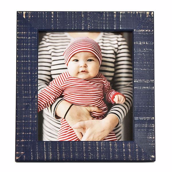 Picture of Dennis Dark Blue 8x10 Picture Frame