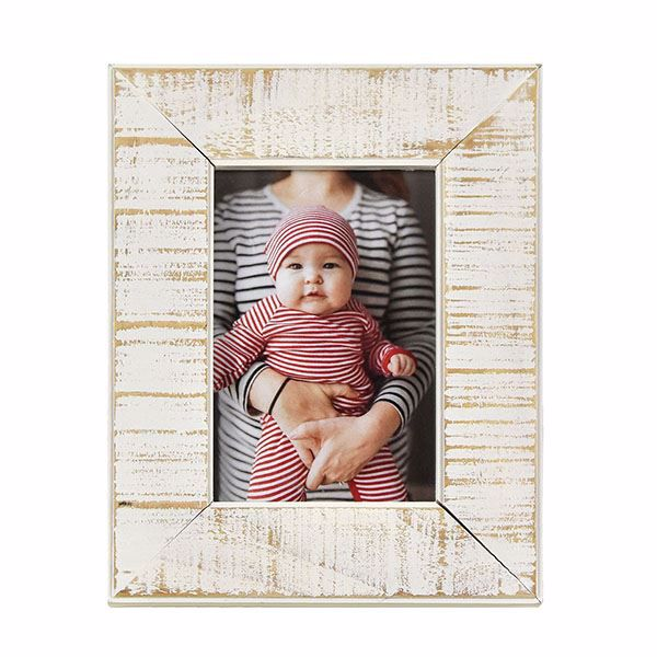 Picture of Dennis Weathered White 4x6 Picture Frame