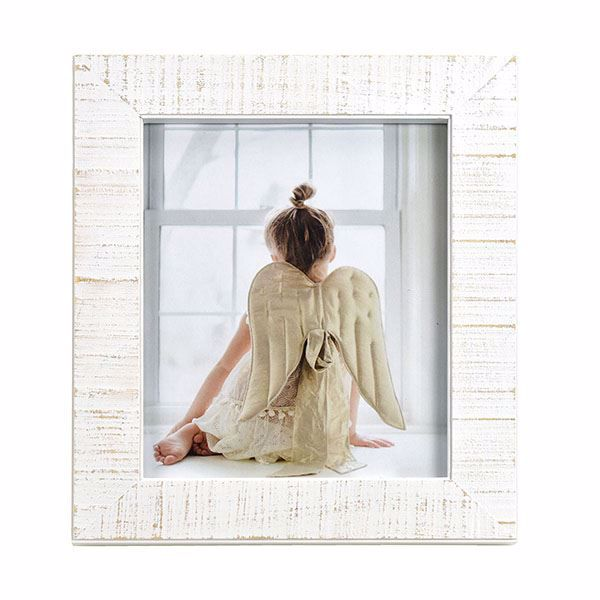 Picture of Dennis Weathered White 8x10 Picture Frame