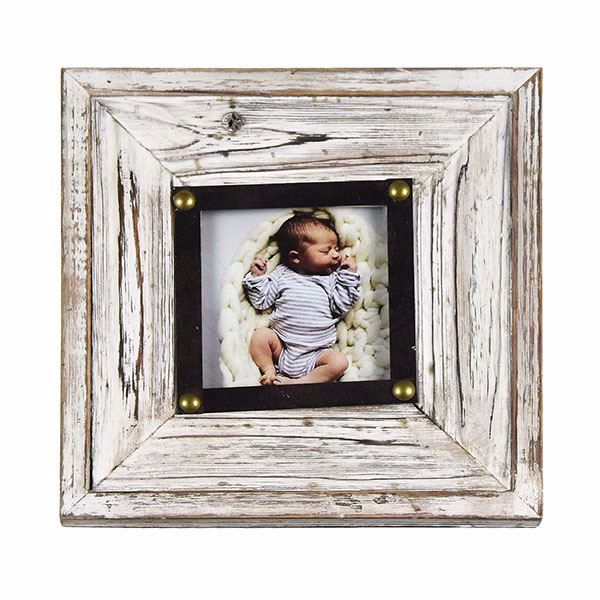 Picture of Henrick Rustic White 4x4 Picture Frame
