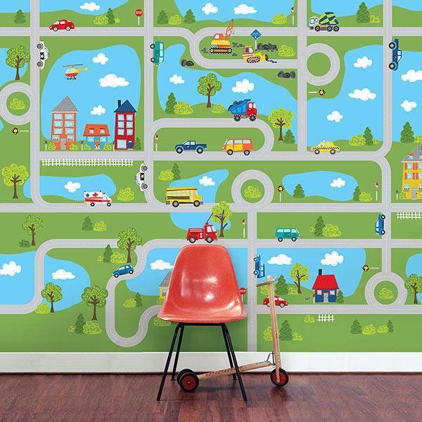 Road Map Peel & Stick Mural