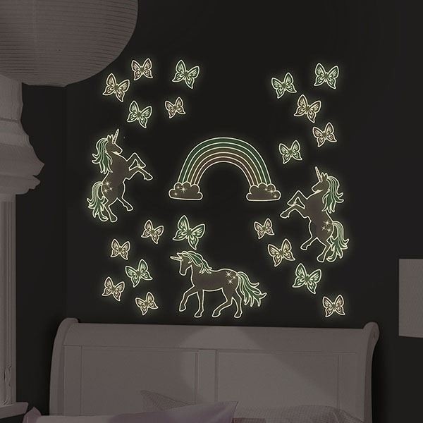Picture of Enchanting Unicorns Glow in the Dark Wall Art Kit