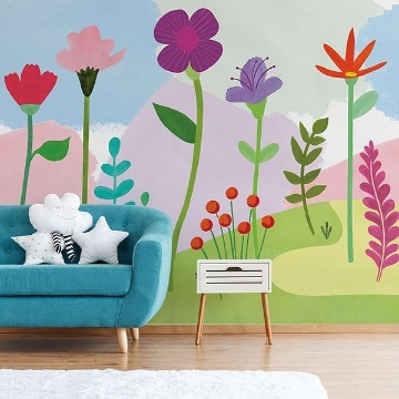 Picture of Happy Poppy Peel & Stick Mural