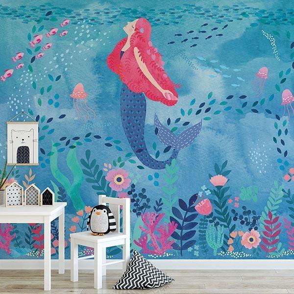 Picture of Mermaid Magic Peel & Stick Mural