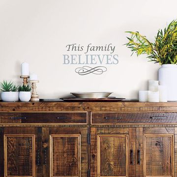 Picture of Believe Wall Quote Decals