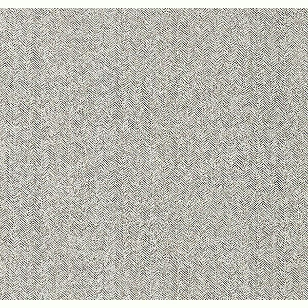 Picture of Hound Grey Herringbone Wallpaper