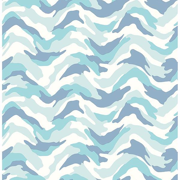 Picture of Stealth Light Blue Camo Wave Wallpaper