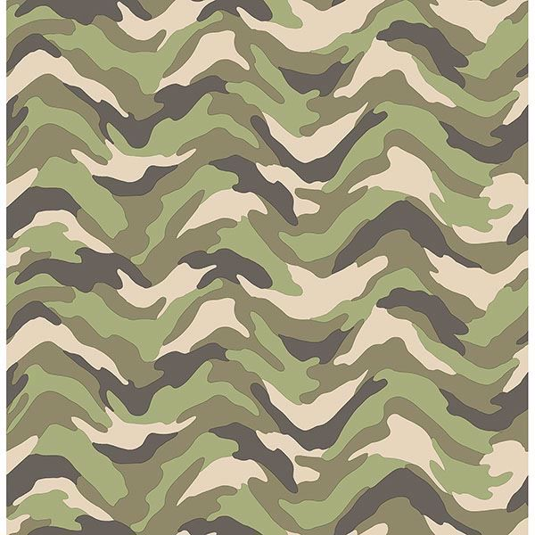 Picture of Stealth Green Camo Wave Wallpaper