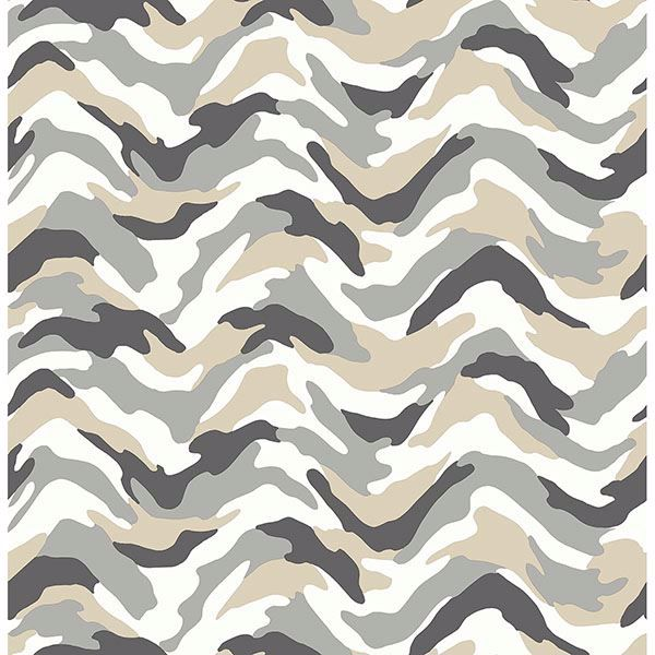 Picture of Stealth Grey Camo Wave Wallpaper