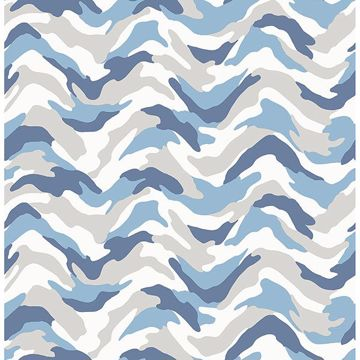 Picture of Stealth Blue Camo Wave Wallpaper