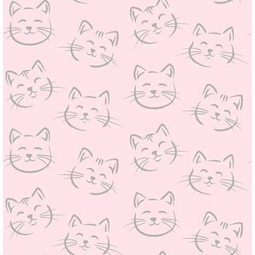 Picture of Purr Pink Cat Wallpaper