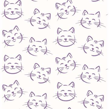 Picture of Purr Purple Cat Wallpaper