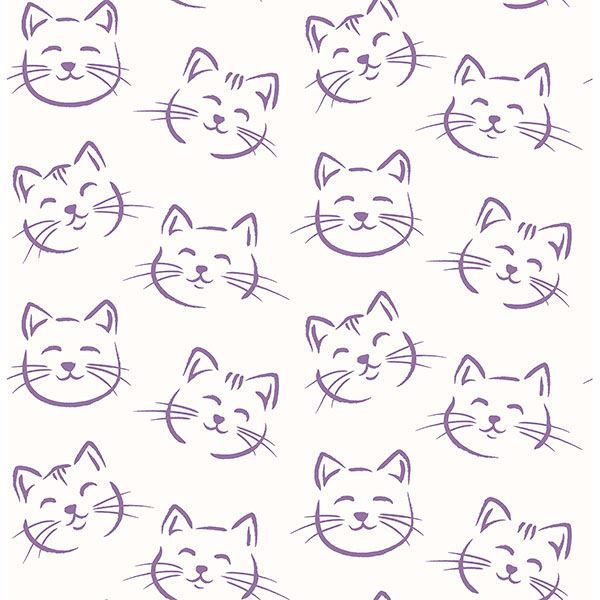 Picture of Purr Purple Cat Wallpaper