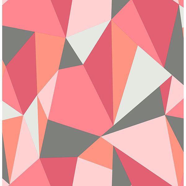 Picture of Kline Pink Facet Wallpaper