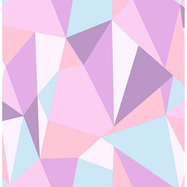 Picture of Kline Purple Facet Wallpaper