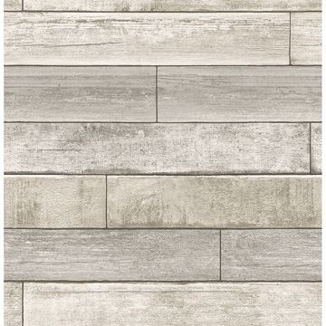 Picture of Wallace Taupe Timber Wallpaper