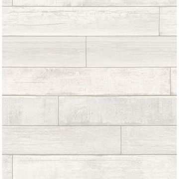 Picture of Wallace White Timber Wallpaper