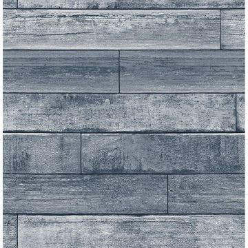 Picture of Wallace Blue Timber Wallpaper
