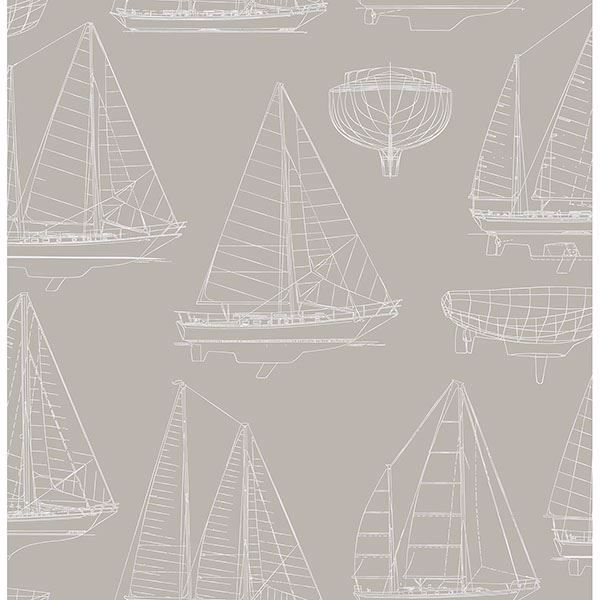 Picture of Boone Grey Shipyard Wallpaper