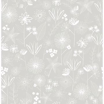 Picture of Mariska Grey Meadow Wallpaper