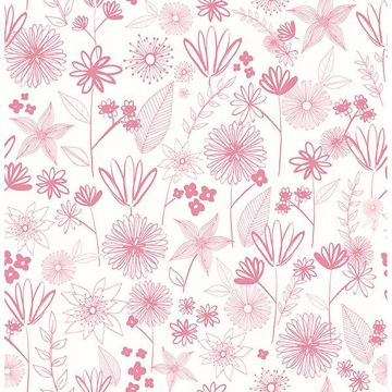 Picture of Mariska Pink Meadow Wallpaper