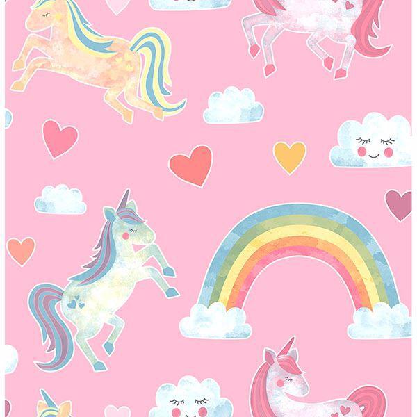Elora Pink Unicorn Wonderland Wallpaper