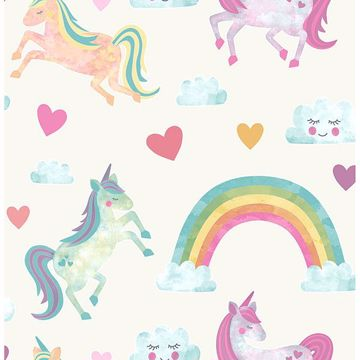 Picture of Elora Cream Unicorn Wonderland Wallpaper