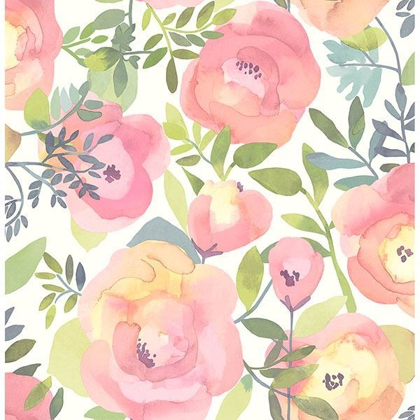 Picture of Peachy Keen Pink Peel & Stick Wallpaper