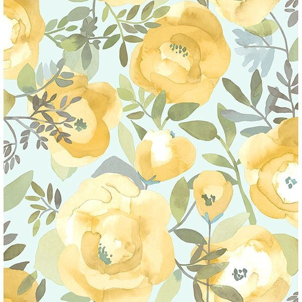 Picture of Peachy Keen Yellow Peel & Stick Wallpaper