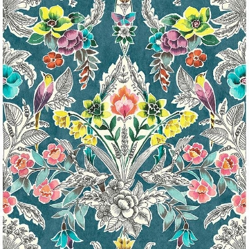 Picture of Summer Love Teal Peel & Stick Wallpaper