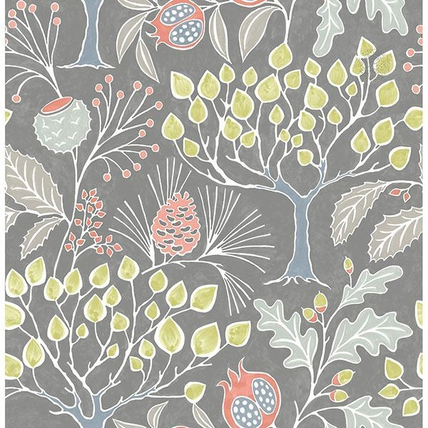 Picture of Groovy Garden Grey Peel & Stick Wallpaper