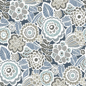 Picture of Dream On Navy Peel & Stick Wallpaper
