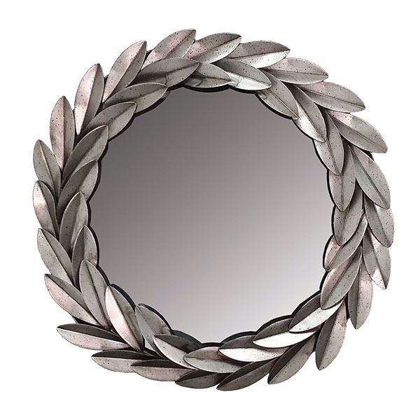 Picture of Leafell Silver Metal Leaf Mirror