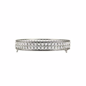 Picture of Yasmine Large Silver Bling Round Tray