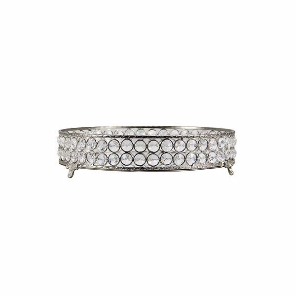 Picture of Yasmine Medium Silver Bling Round Tray