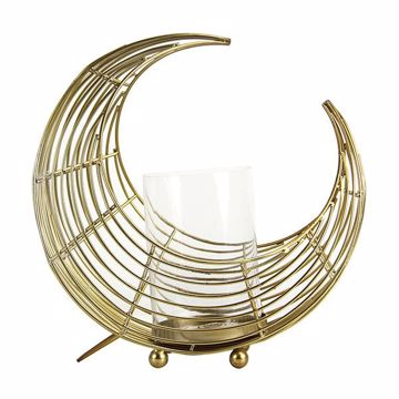 Picture of Eclipse Brass Moon Hurricane Candleholder
