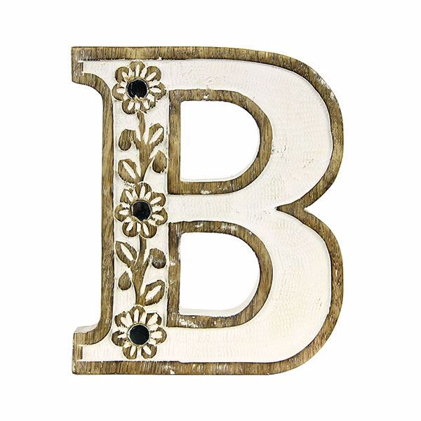 Picture of Albion Carved Wood B Initial