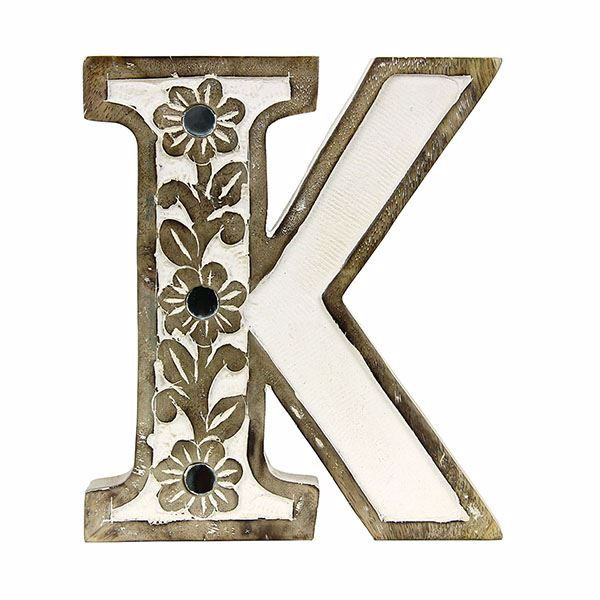 Picture of Albion Carved Wood K Initial