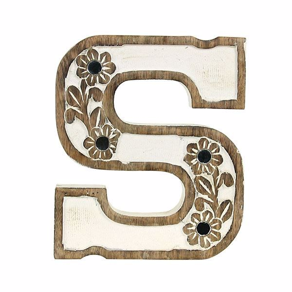 Picture of Albion Carved Wood S Initial