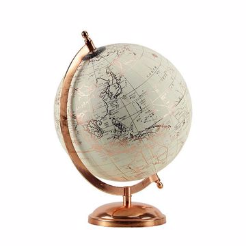 Picture of Ivory and Rose Gold Tabletop Globe