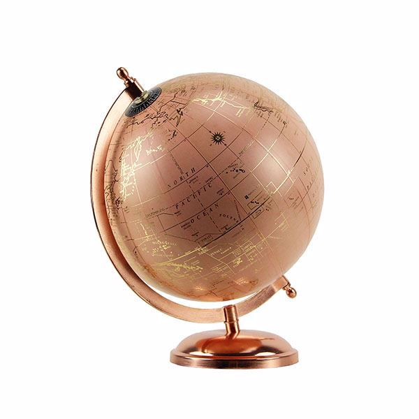 Picture of Pink and Rose Gold Tabletop Globe