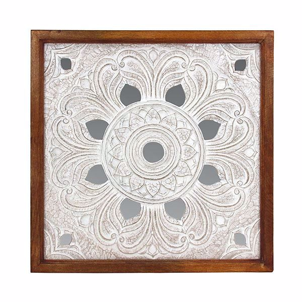 Picture of Beret White Carved Wall Tile