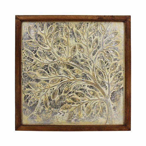 Picture of Rennu Yellow Carved Wall Tile
