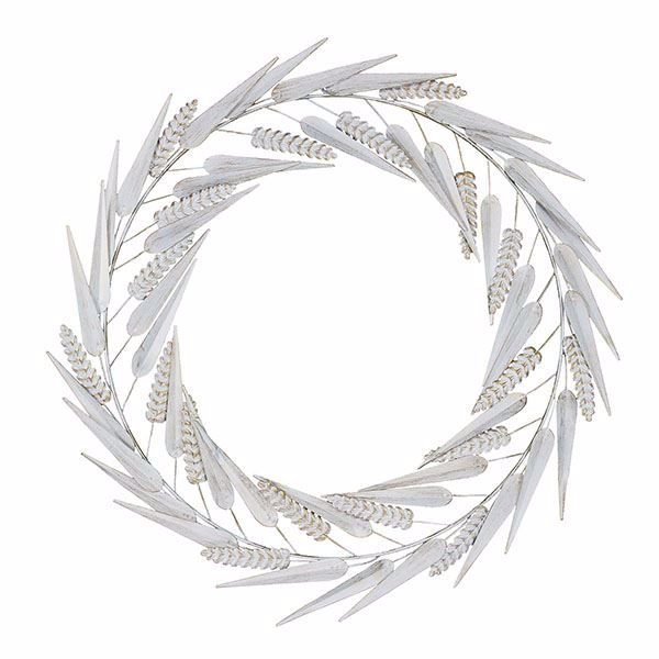 Picture of Laddies White Metal Wreath