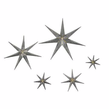 Picture of Gretchen Set of 5 Silver Galvanized Metal Stars