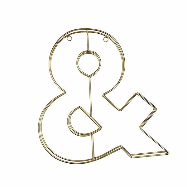 Picture of Alpha Gold Metal Ampersand Wall Decor